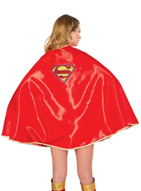 Capa de Supergirl deluxe para mujer