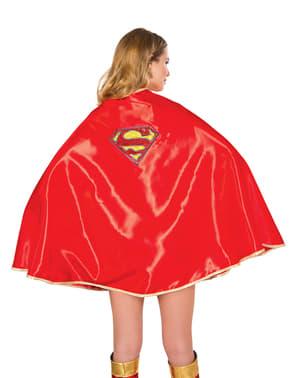 Cape Supergirl deluxe voor vrouw