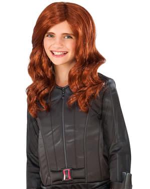 Pruik Black Widow Captain America Civil War voor meisjes