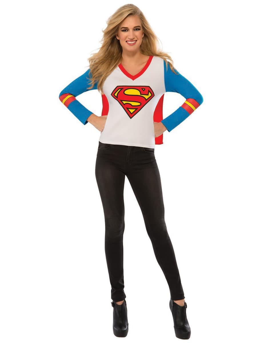 tee shirt superman femme les plus amusants funidelia. Black Bedroom Furniture Sets. Home Design Ideas
