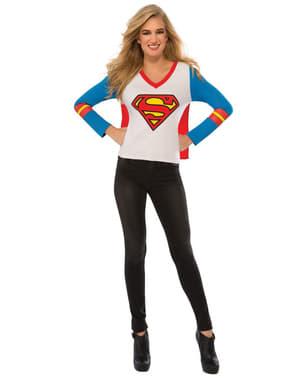 女性用スーパーマンTシャツ