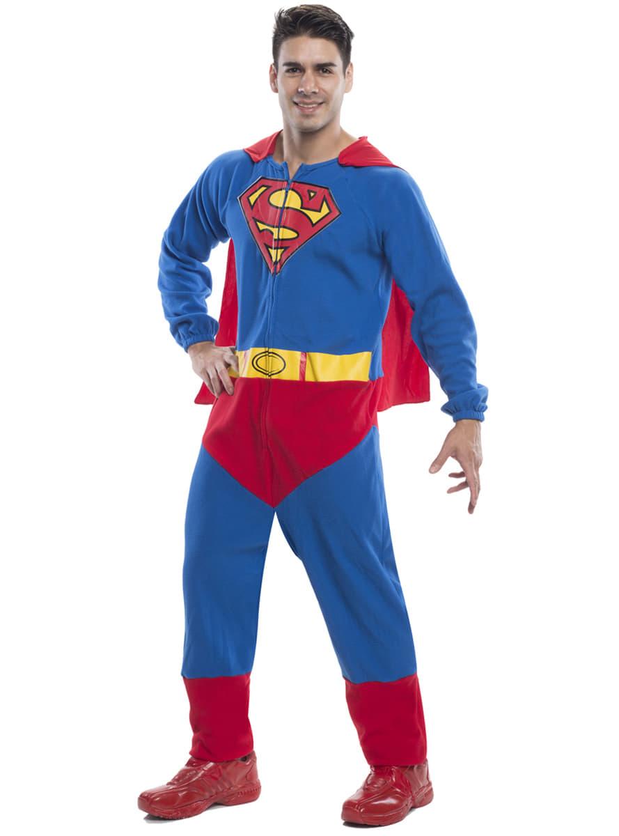 superman onesie kost m f r herren funidelia. Black Bedroom Furniture Sets. Home Design Ideas