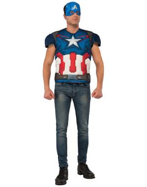 Captain America kostyme sett til mann