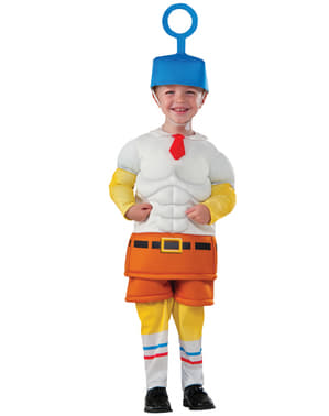 Boy's Muscular SpongeBob Squarepants Movie Costume