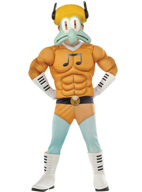 Disfraz de Calamardo Bob Esponja la película musculoso para niño