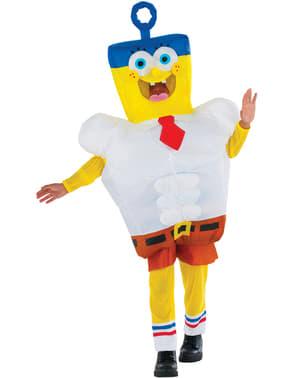 Oppblåsbar Svampebob Firkant Kostyme Gutt