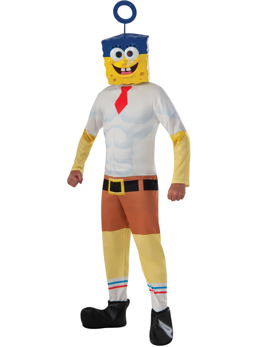 Costume bob l 39 eponge le film enfant livraison 24h funidelia - Bob l eponge halloween ...