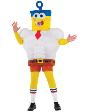 Aufblasbares SpongeBob Schwammkopf Kostüm für Herren