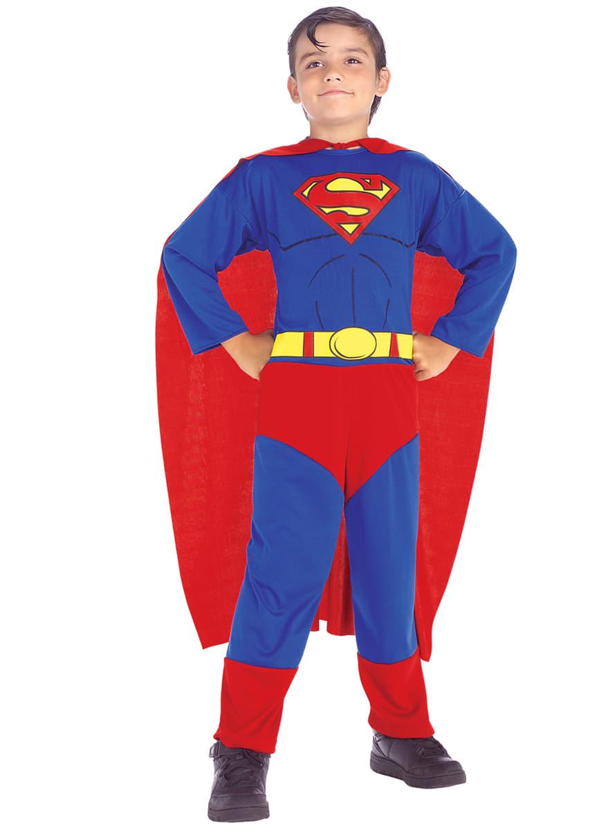 superman kost m classic f r jungen funidelia. Black Bedroom Furniture Sets. Home Design Ideas