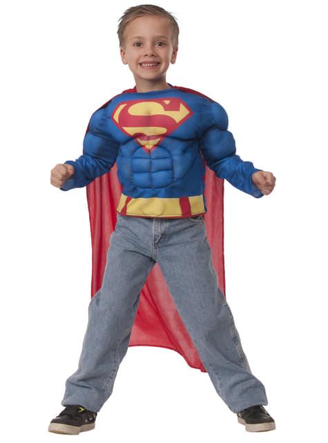 Boy's Muscular Superman Costume Kit
