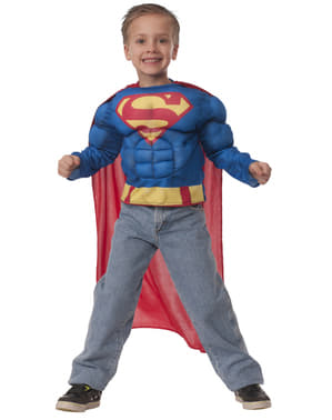 少年の筋肉質スーパーマンコスチュームキット