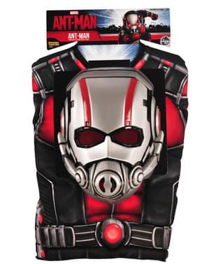 Kit costum Ant-Man musculos pentru băiat în cutie