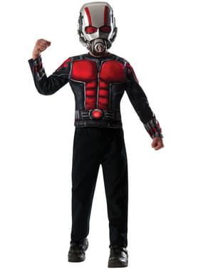Kit Maskeraddräkt Ant-Man muskulös för barn i ask