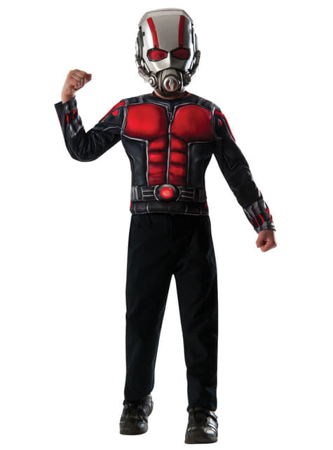 Kit disfraz de Ant-Man musculoso para niño