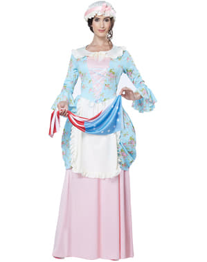 Costum doamnă din epoca colonială pentru femeie