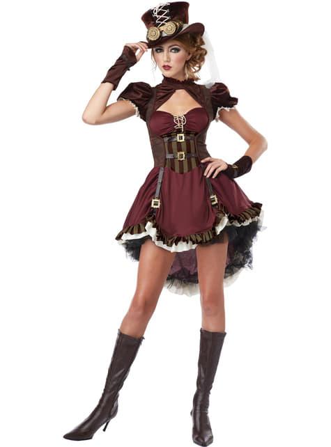 Steampunk Eventyrer Kostyme Dame