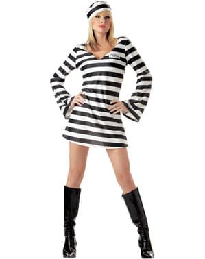 Sträfling Kostüm für Damen