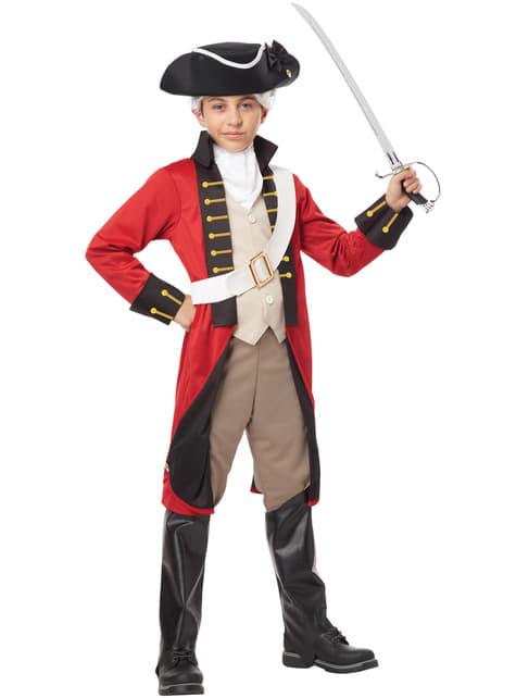 Fato de soldado da marinha britânica para menino