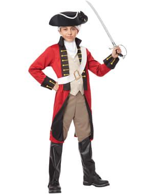 Britisk Marine Soldat Kostyme Gutt