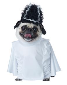 Disfraz de novia de frankenperro para perro
