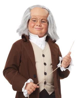 Peruca de Benjamin Franklin para menino