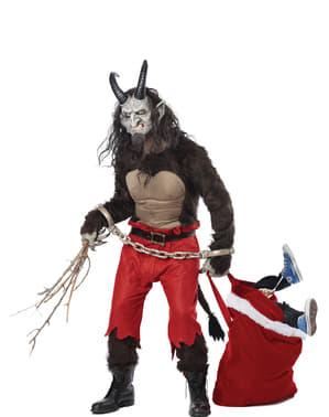 Costume da Krampus demonio natalizio per uomo
