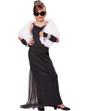 Costum de divă cu diamante pentru fată