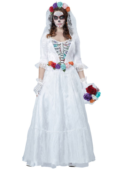 Women's Dead Mexican Bride Costume