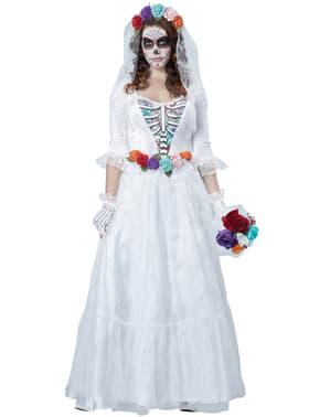 Disfraz de novia muerta mejicana para mujer