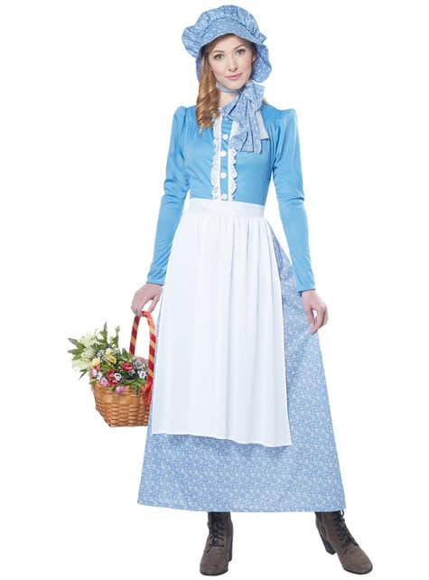 Disfraz de pionera colona para mujer