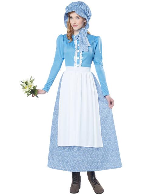 Disfraz de pionera colona para mujer - mujer