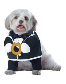 Disfraz de novio elegante para perro