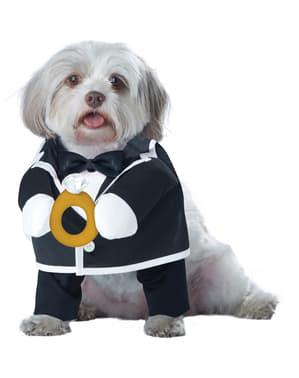 Fato de noivo elegante para cão