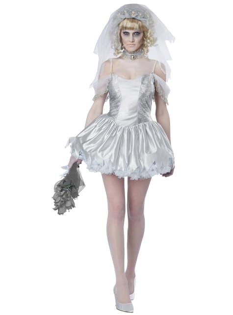 Fato de noiva fantasmagórica para mulher