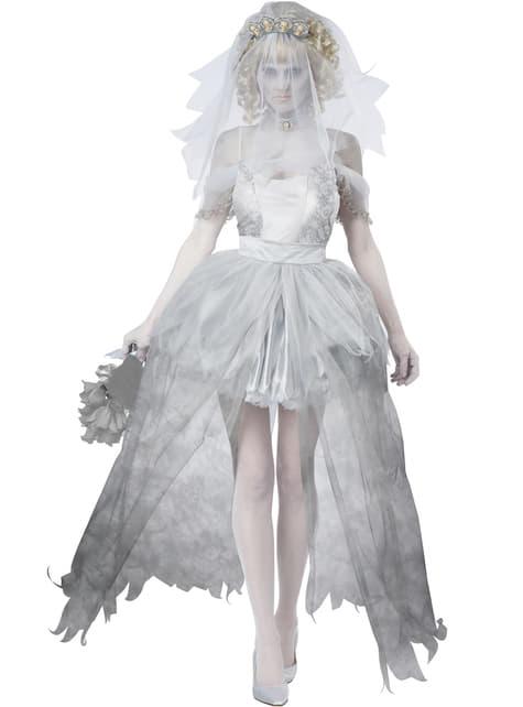 Disfraz de novia fantasmagórica para mujer - mujer