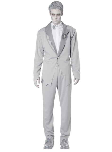 Men's Ghost Groom Costume