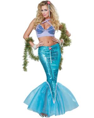 Meerjungfrau Kostüm für Damen deluxe