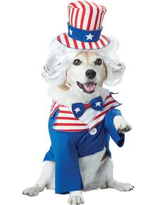 Disfraz de Tío Sam para perro
