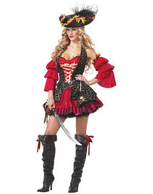 Vechtlustige piraat Kostuum voor vrouw