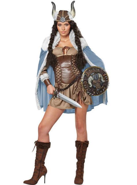 Strój odważna dziewczyna wiking damski