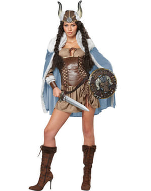 Disfraz de brava vikinga para mujer
