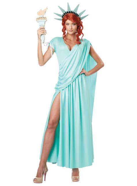 Disfraz de Estatua de la Libertad para mujer