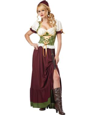 Kneipenkellnerin Kostüm für Damen