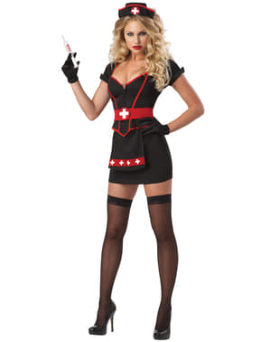 Disfraz de enfermera negro