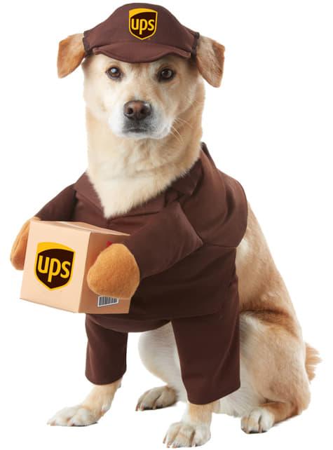 Disfraz de repartidor de UPS para perro