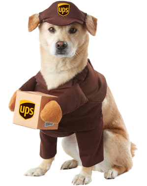 Strój kurier UPS dla psa