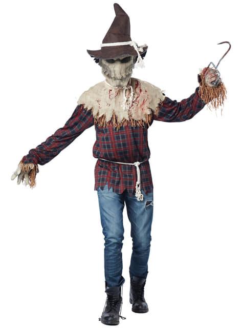 Schreckliche Vogelscheuche Kostüm für Herren
