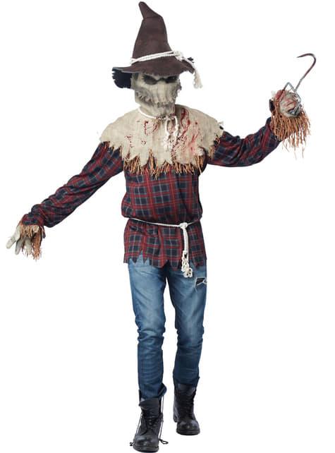Disfraz de espantapájaros sádico - adulto