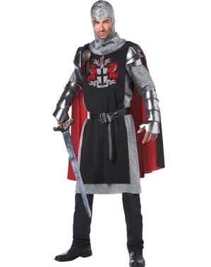 Costume da cavaliere medievale coraggioso per uomo