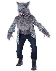 Disfraz de hombre lobo terrorífico para hombre